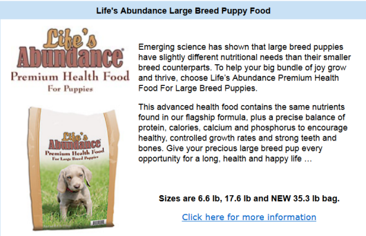 largebreedpuppy Natural, Wholesome Large Breed Puppy Food