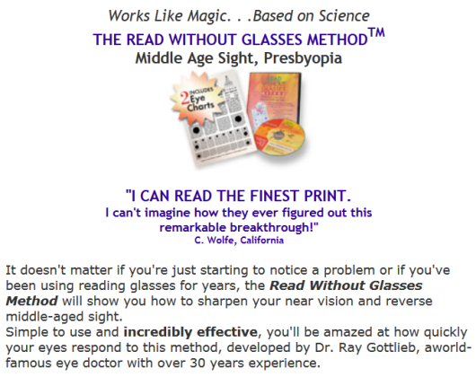 improve reading without glasses